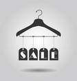 hanging sale signage clothing hanger banners icon vector image vector image