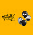 happy halloween party calligraphy banner ghost vector image vector image