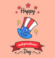 happy independence day colorful card style vector image