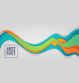 horizontal abstract color flow background for vector image vector image