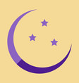 icon in a flat style ramadan moon and stars vector image vector image