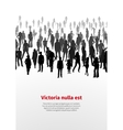Large crowd of people background vector image vector image