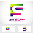Letter S colors logo vector image vector image