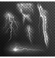 Lightning Black White Set vector image vector image