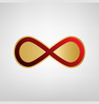 limitless symbol red icon on vector image vector image