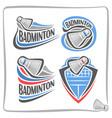 logo badminton shuttlecock vector image