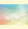 low poly pastel background vector image vector image