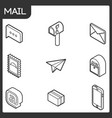 mail outline isometric icons vector image vector image