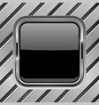metal diagonal planks with black glass button vector image vector image