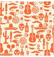 Mexican seamless pattern with icons in native vector image