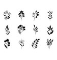 minimalist tattoo boho flower heart padlock vector image vector image