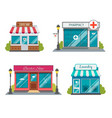 modern fast food restaurant and shop buildings vector image