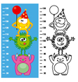 monsters meter wall vector image vector image