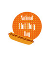 national day hot dog fast food on a dotted vector image