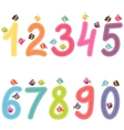 Numbers from zero to nine with birds