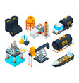 oil and gas petroleum refining isometric pictures vector image