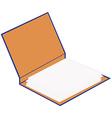 Opened cardboard folder vector image vector image