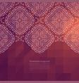 ornate border background vector image vector image