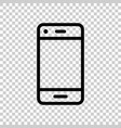 phone device sign icon in transparent style vector image vector image