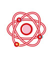 physics orbit atom chemistry education vector image