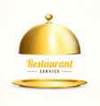 realistic 3d detailed shiny golden restaurant vector image vector image