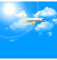 Realistic Plane Poster vector image vector image