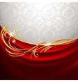 red fabric curtain vector image vector image