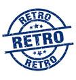 retro blue round grunge stamp vector image vector image