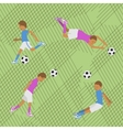 Seamless pattern soccer vector image vector image