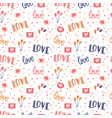 seamless pattern with big collection love vector image vector image