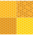 seamless patterns - honeycombs vector image