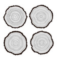 set black and white wooden cuts vector image vector image
