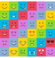 set colored emoticons vector image vector image