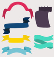 set design elements banners ribbons vector image vector image