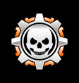 skull gear machine vector image vector image