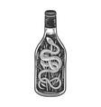 snake wine sketch vector image vector image