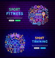 sport items banners vector image vector image