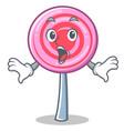 surprised cute lollipop character cartoon vector image vector image