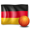 The flag of Germany with a ball vector image vector image