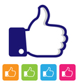 thumbs up like symbol vector image vector image