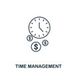 time management icon thin line style symbol from vector image vector image