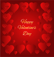 Valentines day Hearts red background vector image