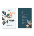 watercolor soft flower bloom each branch set of vector image