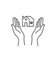 woman hands like real estate insurance vector image vector image