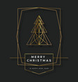 year gold art deco pine tree card vector image