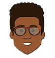 young man black shirtless avatar character vector image vector image