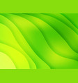 Bright green waves abstract background vector image