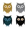 owl day night gray and halloween black owl vector image