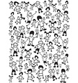 seamless doodle kids background vector image