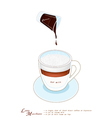 A Cup of Latte Macchiato on White Background vector image vector image